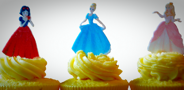 Edible cake topper - 'Disney' princesses
